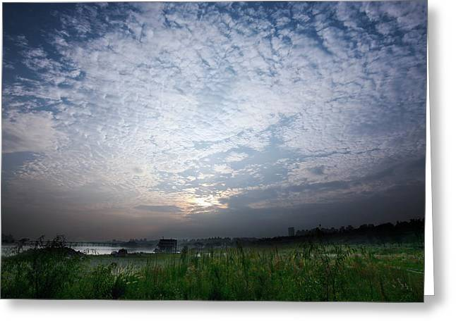 Surreal Landscape Photographs Greeting Cards - Cushioned Sky Greeting Card by Mountain Dreams