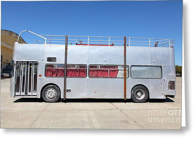 Classic Bus Greeting Cards - Custom Artistic Double Decker Bus 5D25357 Greeting Card by Wingsdomain Art and Photography