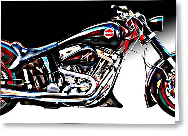 Samuel Sheats Greeting Cards - Custom Bike Study 1 Greeting Card by Samuel Sheats