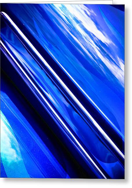 Phil Motography Clark Greeting Cards - Custom Blue Paint Greeting Card by Phil