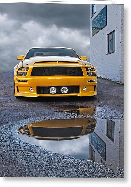 Car Racer Greeting Cards - Custom Exotics - Mustang GTR Greeting Card by Gill Billington