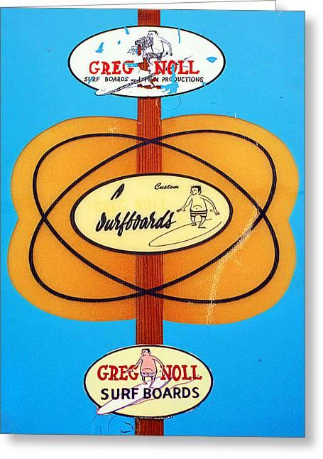 Custom Greg Noll Surfboards Greeting Card by Ron Regalado