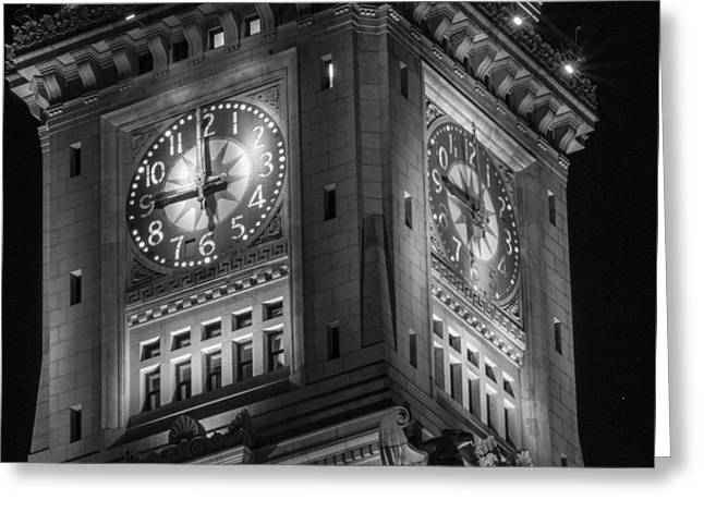 Custom House Tower Greeting Cards - Custom House Tower Close Up Greeting Card by John McGraw