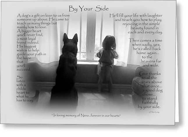 Recently Sold -  - Police Officer Greeting Cards - Custom Paw Print   Nero Greeting Card by Sue Long