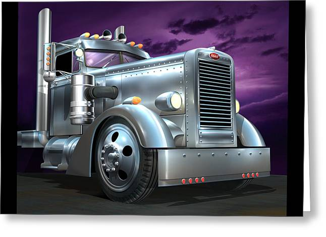 Custom Peterbilt Silver Ghost Greeting Card by Stuart Swartz