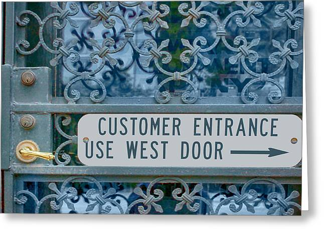 Grate Greeting Cards - Customer Entrance Greeting Card by Nikolyn McDonald
