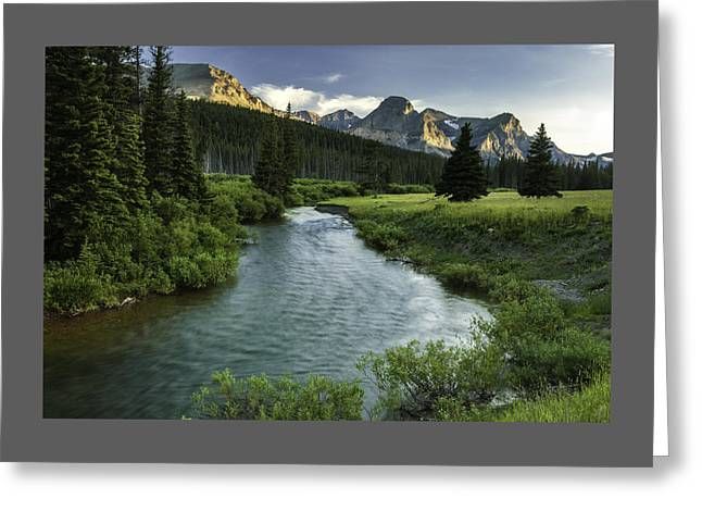 Back Country Greeting Cards - Cut Bank Creek at Sunset Greeting Card by Thomas Schoeller