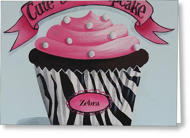 Catherine Greeting Cards - Cute as a Cupcake Greeting Card by Catherine Holman