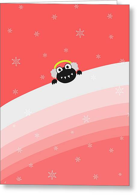 Cute Bug With Earflaps Greeting Card by Boriana Giormova