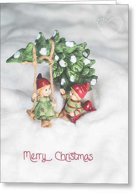 Kjg Greeting Cards - Cute Christmas Card Greeting Card by Mirra Photography