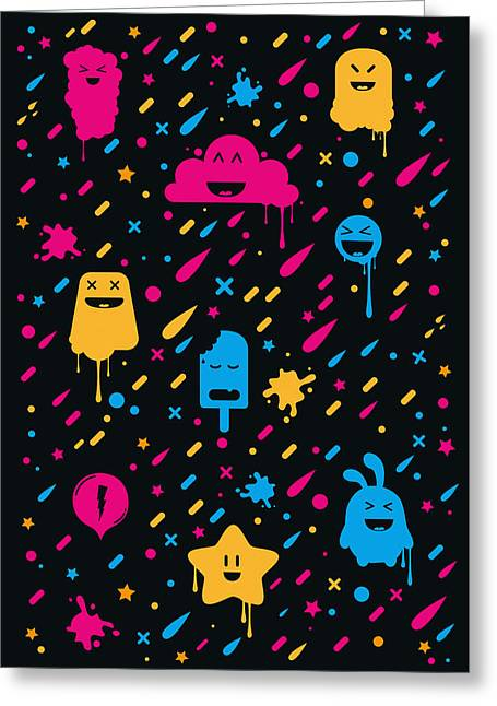 Top Selling Digital Art Greeting Cards - Cute Color Stuff Greeting Card by Philipp Rietz