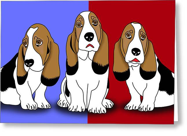 Puppies Digital Greeting Cards - Cute Dogs 2 Greeting Card by Mark Ashkenazi