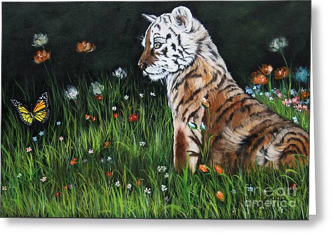 Young Tiger Greeting Cards - Cute Kitty Greeting Card by  ILONA ANITA TIGGES - GOETZE  ART and Photography
