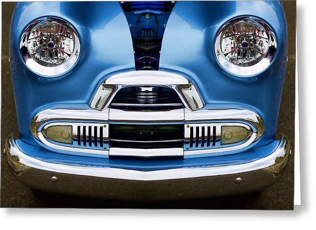 Happy Child Greeting Cards - Cute Little Car Faces Number 4 Greeting Card by Carol Leigh