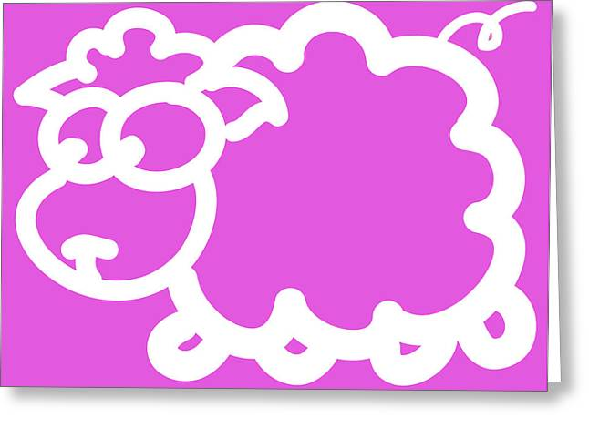 Baby Room Greeting Cards - Cute Little Lamb Greeting Card by Nursery Art