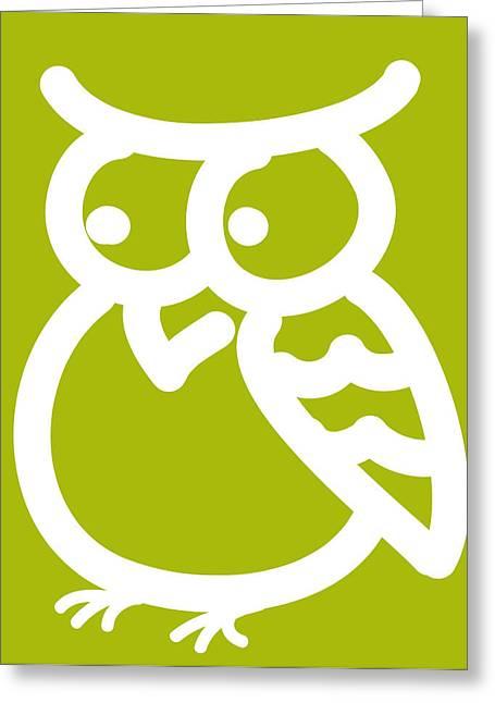 Nursery Art Greeting Cards - Cute Owl Nursery Print Greeting Card by Nursery Art