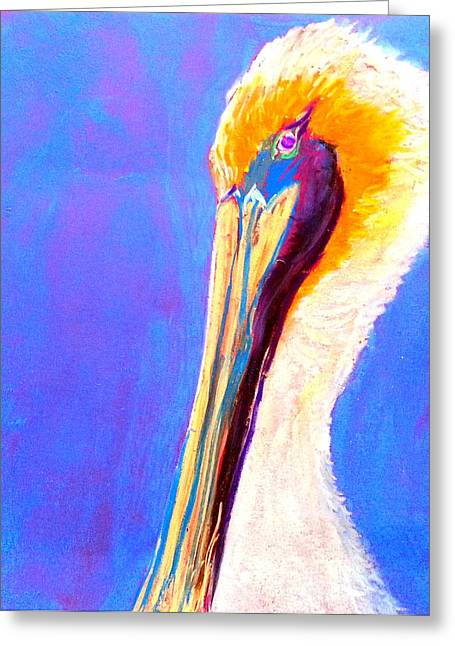 Whimsical. Greeting Cards - Cute Pelican Greeting Card by Sue Jacobi