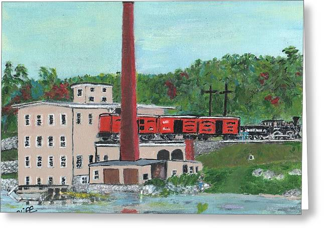 Cutler's Mill - Circa 1870 Greeting Card by Cliff Wilson