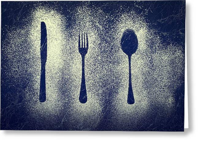 Kitchen Utensils Greeting Cards - Cutlery Series Greeting Card by Amanda And Christopher Elwell