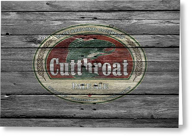 Cutthroat Greeting Cards - Cutthroat Pale Ale Greeting Card by Joe Hamilton
