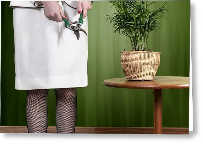 cutting plant Greeting Card by Joana Kruse