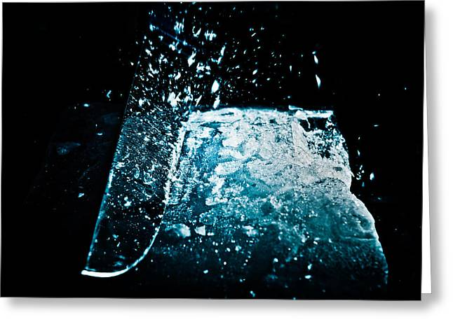 Cutting The Ice Greeting Card by Wolfgang Simm