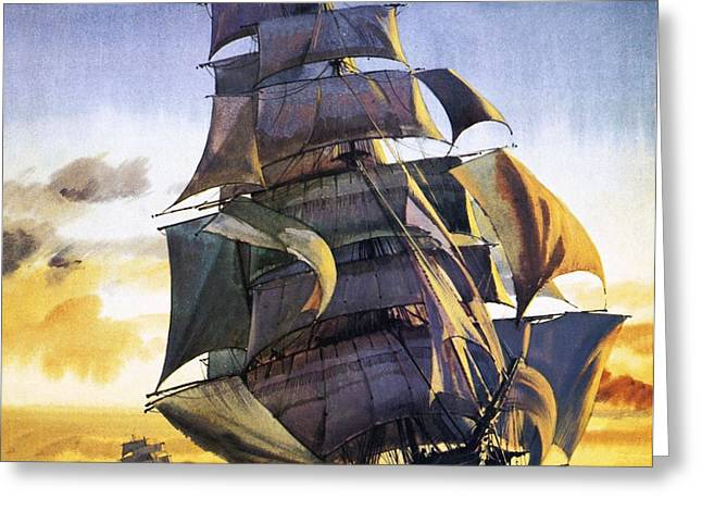 China Clippers Greeting Cards - Cutty Sark Greeting Card by English School