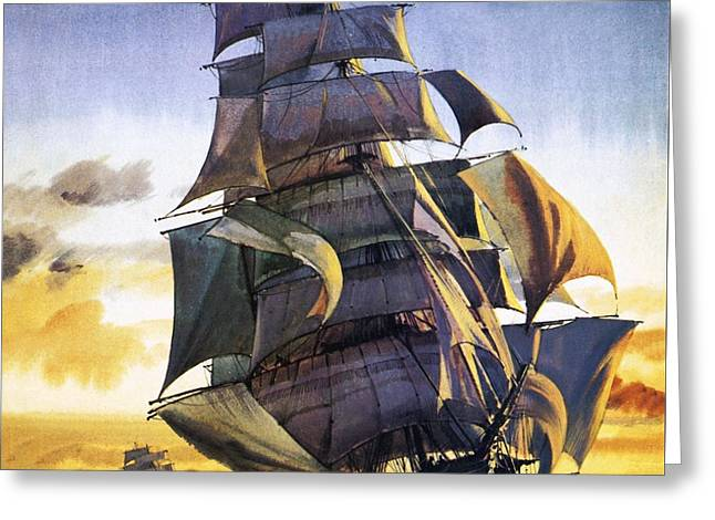 Cutty Sark Greeting Card by English School