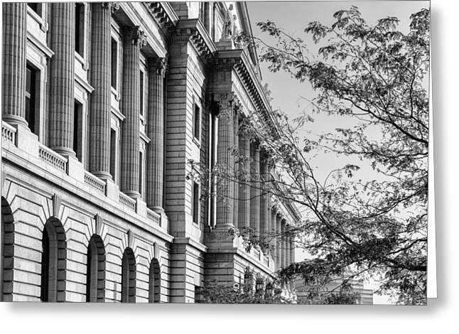 Cuyahoga Greeting Cards - Cuyahoga County Court House Greeting Card by Dale Kincaid
