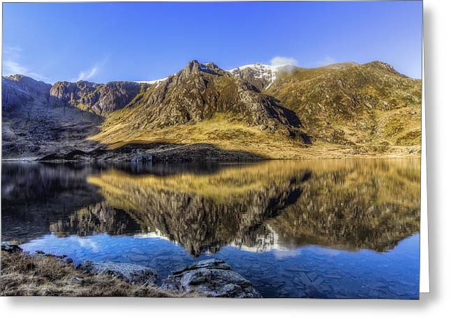 Water Scape Greeting Cards - Cwm Idwal Greeting Card by Ian Mitchell