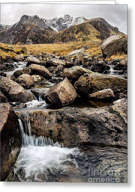 Stream Digital Greeting Cards - Cwm Idwal River Greeting Card by Adrian Evans