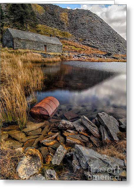 Abandoned Digital Art Greeting Cards - Cwmorthin Slate Quarry Greeting Card by Adrian Evans