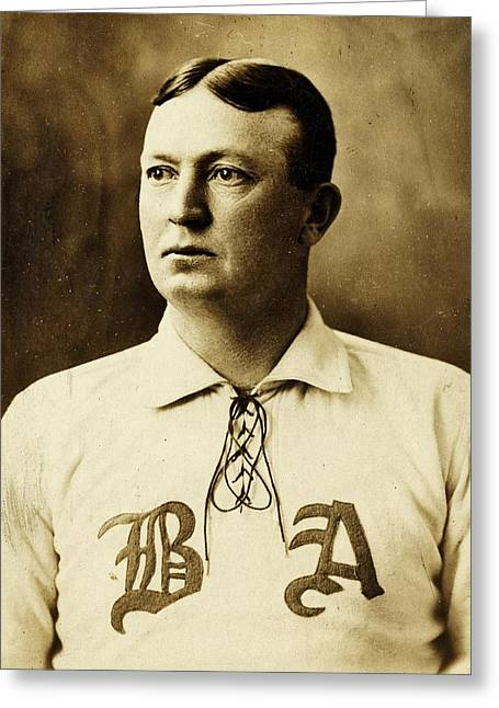 Cy Young Photographs Greeting Cards - Cy Young Greeting Card by Benjamin Yeager