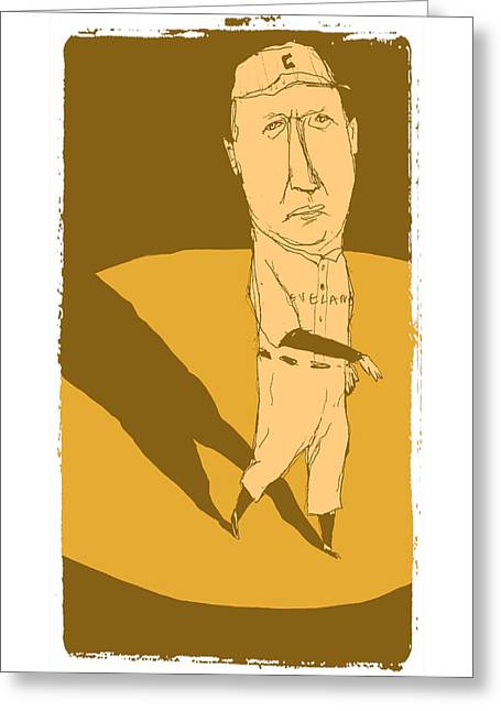 Cy Young Paintings Greeting Cards - Cy Young Greeting Card by Jay Perkins