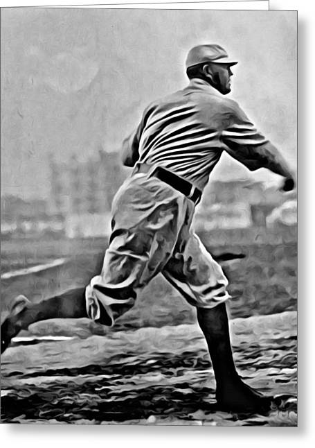 Cy Young Photographs Greeting Cards - Cy Young Painting Greeting Card by Florian Rodarte