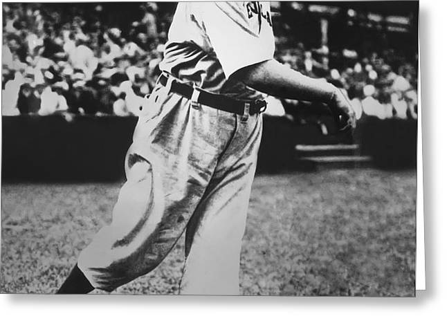 Cy Young Warming Up Greeting Card by Retro Images Archive