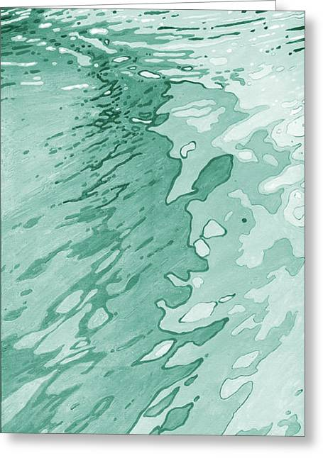 Snorkel Greeting Cards - Cyan Reflections Greeting Card by Margaret Juul