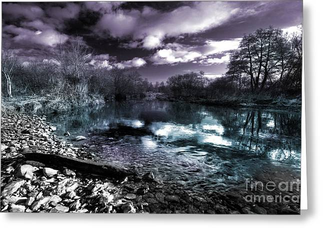 Culm Greeting Cards - Cyan River  Greeting Card by Rob Hawkins