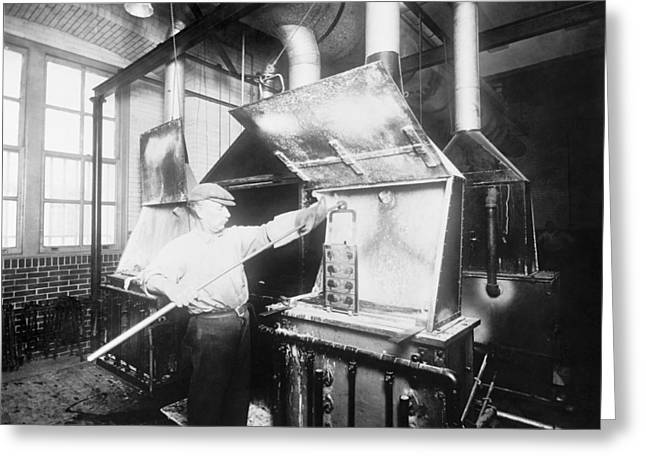 """bureau Of Printing"" Greeting Cards - Cyanide engraving furnace, 1914 Greeting Card by Science Photo Library"