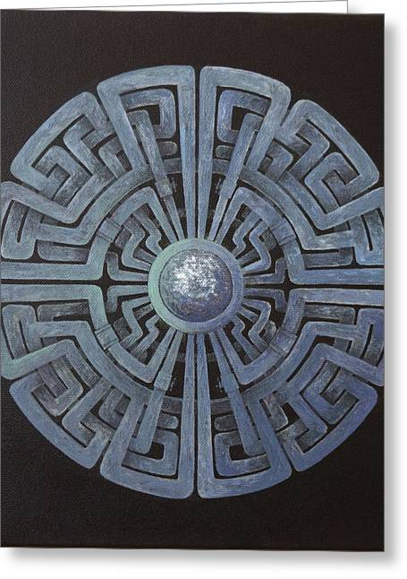 Cyber Circle  Greeting Card by Harm  Plat