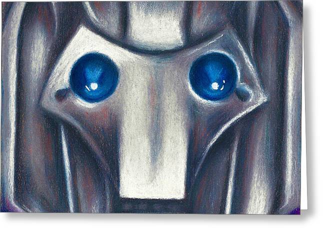 Science Fiction Pastels Greeting Cards - Cyberman Greeting Card by Connie Mobley Johns