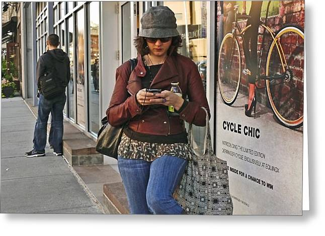 Cycle Chic Greeting Card by Frank Winters