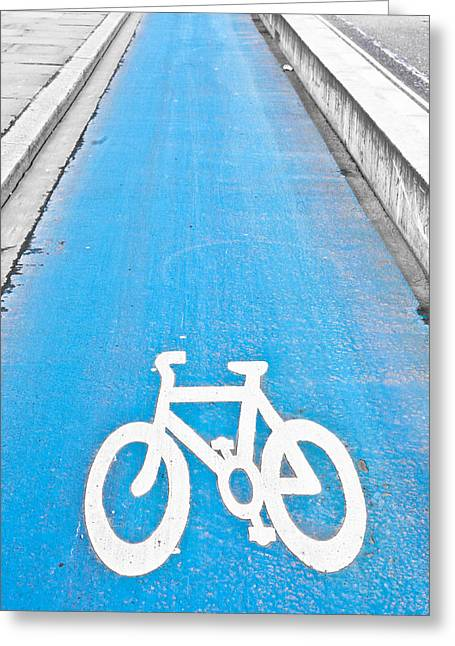 Lifestyle Greeting Cards - Cycle path Greeting Card by Tom Gowanlock