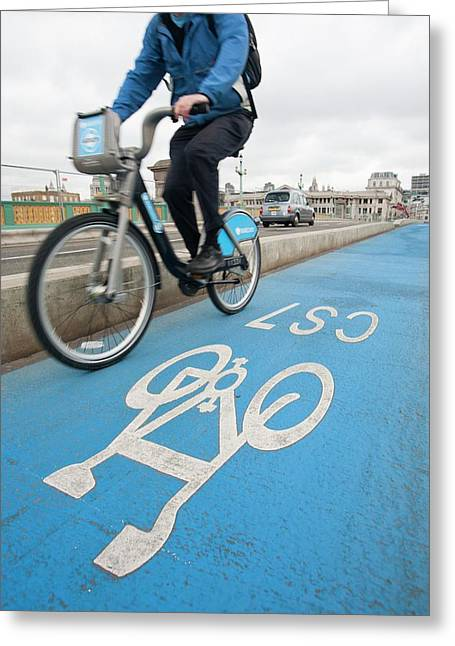 Cycle Superhighways Greeting Card by Ashley Cooper