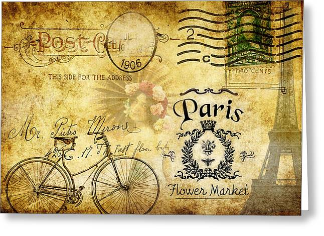 Ladies Bike Greeting Cards - Cycle Through Time Greeting Card by Greg Sharpe