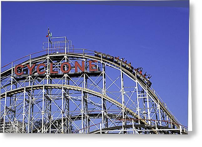 Cyclone 2013 - Coney Island - Bklyn - Ny Greeting Card by Madeline Ellis
