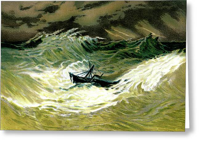 Cyclone At Sea Greeting Card by Collection Abecasis