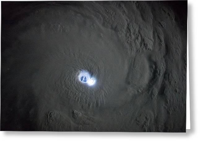 Cyclone Bansi Greeting Card by Nasa