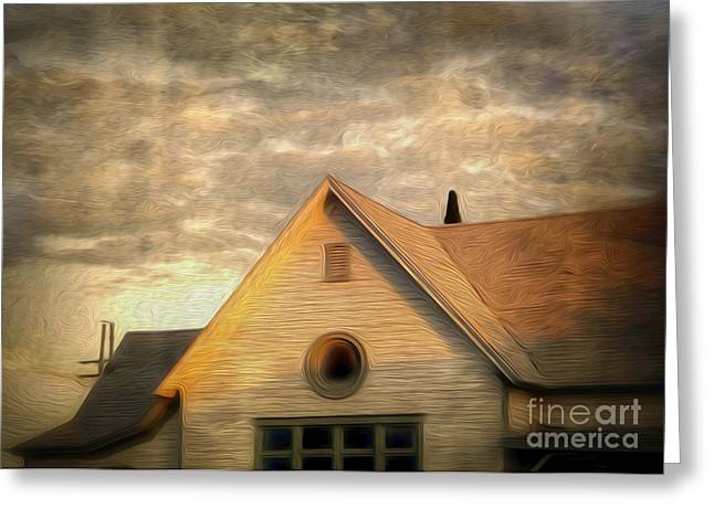 Cyclops House Greeting Card by Gregory Dyer