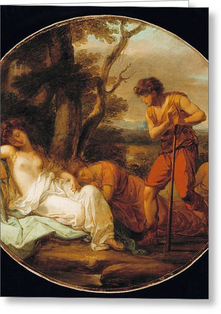 Angelica Greeting Cards - Cymon and Iphigenia Greeting Card by Angelica Kauffmann